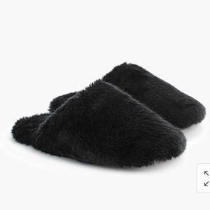 NWT J. Crew Fuzzy Fur Slippers